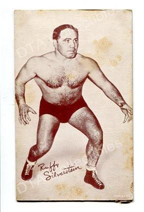 RUFFY SILVERSTEIN-WRESLER EXHIBIT ARCADE CARD-1940 G