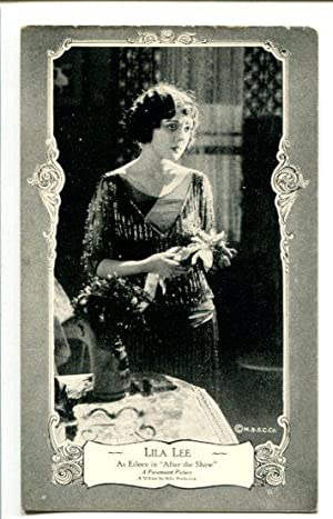 LILA LEE-AFTER THE SHOW-1922 POST CARD-SILENT FILM