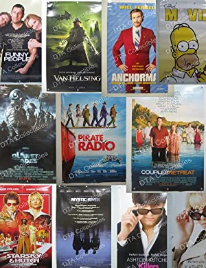 Lot of 52 2000's Original Movie Posters-Anchorman-Simpsons Movie-Shrek 2-more!