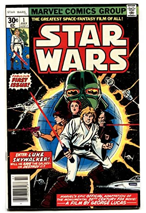 Star Wars #1 1977 Marvel Key Issue bronze-age comic book VF