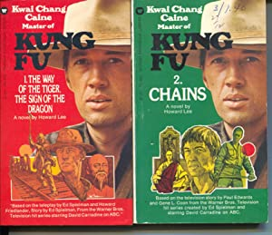 Kung Fu Paperback Books 1-4-1974-Lot of 4-David Carradine-TV series-VG