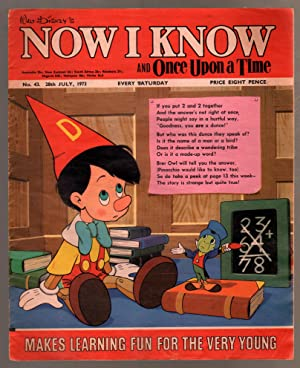 Walt Disney's Now I Know #43 1973-U.K-Pinocchio-G