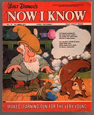 Walt Disney's Now I Know #31 1973-U.K-Sneezy-G