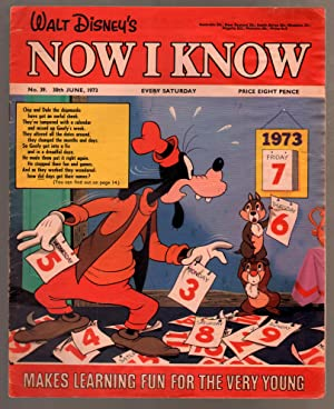 Walt Disney's Now I Know #39 1973-U.K-Goofy-Chip & Dale-G