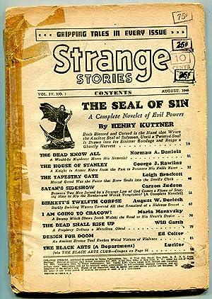 Strange Stories Pulp August 1940- Seal of