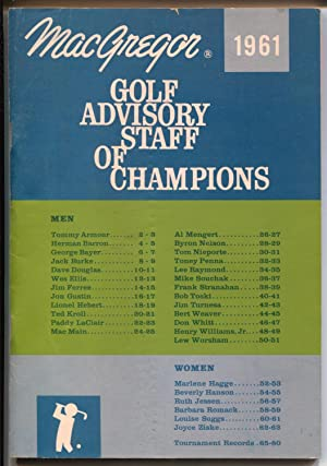 MacGregor Golf Advisory Staff of Champions-golf records-Byron Nelson-VF