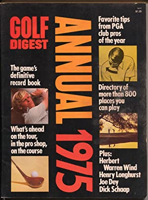 Golf Digest Annual 1975-PGA-rules-schedules-player bios-FN