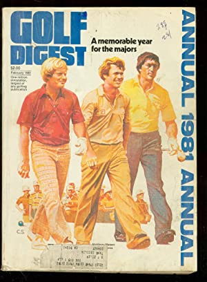 Golf Digest Annual 1981-PGA-LPGA-Nicklaus, Watson & Ballesteros cover