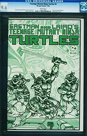 Teenage Mutant Ninja Turtles #4-CGC 9.6-1985-white pages-1452276002