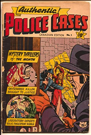 Authentic Police Cases #1 1950's-Canadian Edition-bondage cover-1st issue-G/VG