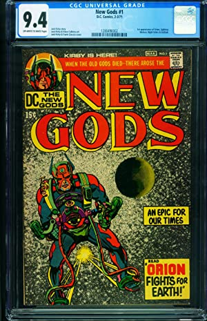 NEW GODS #1 CGC 9.4 First issue DARKSEID comic book 1280490002