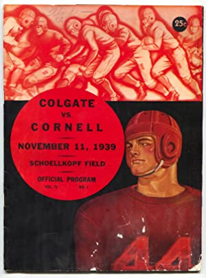 Colgate vs Cornell NCAA Football Game Program November 11 1939