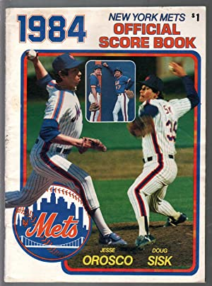 New York Mets Official Score Book 1984-Jesse Orosco-Doug Sisk-stats-info-FN
