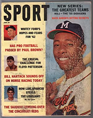 Sport 6/1962-Hank Aaron-Paul Brown-Whitey Ford-pix-infoG