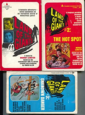 Land Of The Giants Lot of 3 TV Series Books 1968-Murray Leinster-VG