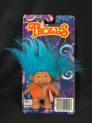 Troll Doll Blue Hair Toys N' Things 4005