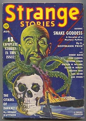 Strange Stories Pulp August 1939- Oriental menace-