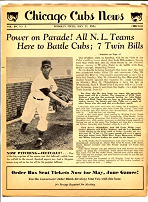 Chicago Cubs News May 22 1954- MLB Newsletter