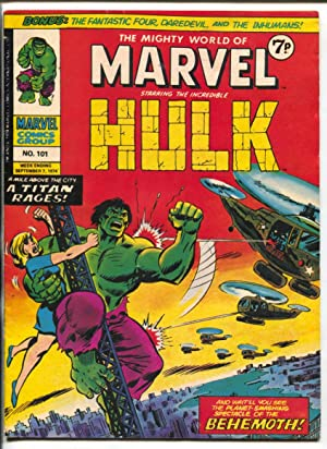 Mighty World Of Marvel #101 1974- Hulk- British comic book VG/F