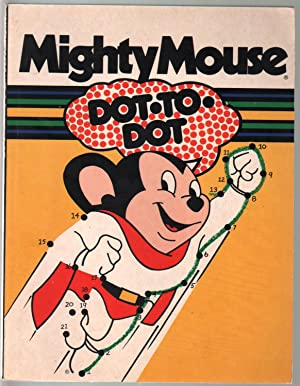 Mighty Mouse Dot To Dot 1970's-Mayfloer Books-connect the dots book-G/VG