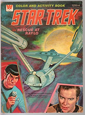 Star Trek Color and Activity Book #1250-4 1978-Kirk-Spock-Rescue At Raylo-VG