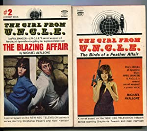 Girl From U.N.C.L.E.-2 Paperbacks-Michael Avallone-Signet-1966