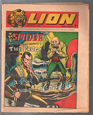 Lion 3/27/1969-IPC-Spider vs Frog-Wyatt Earp-Captain Condor-robot-VG