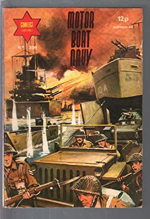 Conflict Library #399 1970's Motor Boat Mavy-WWII stories-printed in Spain-FN