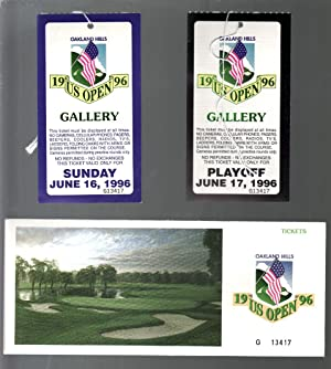 U.S. Open Golf Tournament 6/1996-Oakland Hills-2 #50 tickets & envelope-VF