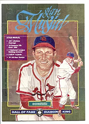 Stan Musial Hall of Fame Diamond King Puzzle 1988