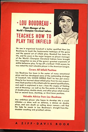LOU BOUDREAU-GOOD INFIELD PLAY-1949-BASEBALL BOOK-ZIFF DAVIS-RARE