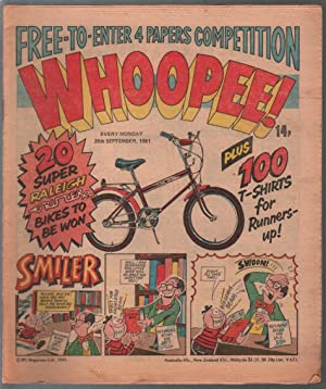 Whoopee! 9/26/1981-UK tabloid comic book-Tom Horror-Lolly Pop-FN