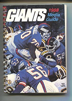 New York Giants Media Guide-1988-Spiral Bound-Rare-NFL