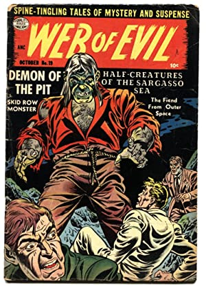 WEB OF EVIL #19-PCH DEMON OF THE PIT-pre code horror-Comic Book 1954