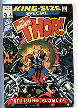 THOR ANNUAL #4-Great cover-MARVEL-JACK KIRBY FN+