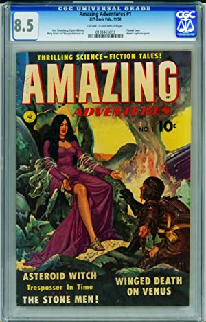 Amazing Adventures #1 CGC 8.5 Wally Wood-1950-Ziff-Davis-0193465003