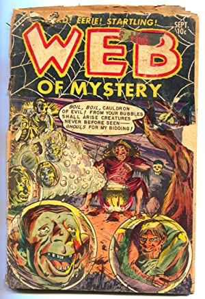 WEB OF MYSTERY #20 comic book 1953 PRE-CODE HORROR dismemberment p