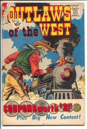 Outlaws Of The West #31 1961-Charlton-railroad cover-