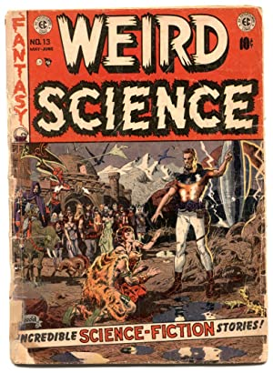 Weird Science #13 1952- EC COMICS- Wood Cover reading copy