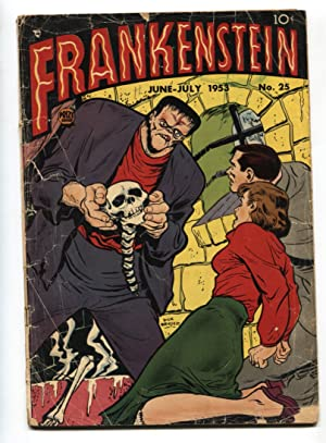 FRANKENSTEIN #25-Skelton cover-DICK BRIEFER--PRE-CODE HORROR PR