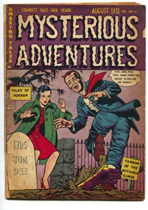 MYSTERIOUS ADVENTURES #3-1951 HAND OUT OF GRAVE-PCH HORROR G