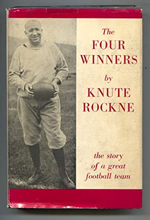 Four Winners 1946-by Knute Rockne-hard cover w/ rare dust jacket-football history/fiction-2nd Pri...