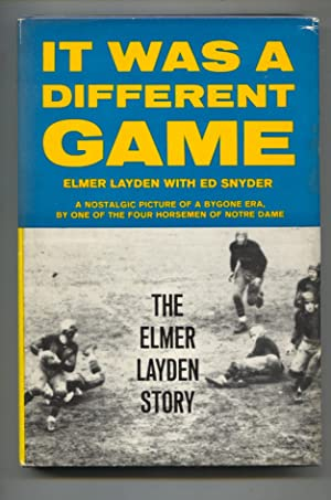 It Was A Different Game 1969-1st ed.4th printing-by Elmer Layden-Notre Dame football history-FN