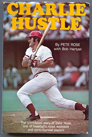 Charlie Hustle 1975-Pete Rose-1st edition-hard cover w/ dust jacket-pix & info-baseball history-F...