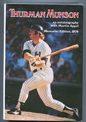 Thurman Munson 1979-memorial edition with Martin Appel-hard cover w/ dust jacket-pix & info-VF