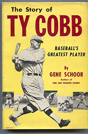 Story of Ty Cobb 1952-by Gene Schoor-baseball history-hard cover w/ photo cover dust jacket-FN/VF