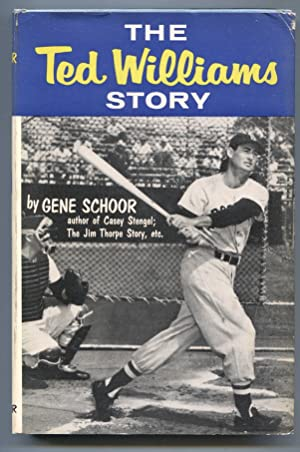 Ted Williams Story 1954-by Gene Schoor-baseball history-hard cover w/ photo cover dust jacket-FN
