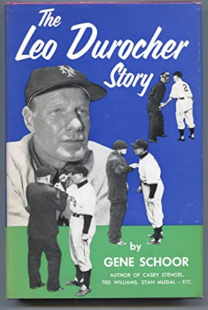 Leo Durocher Story 1955-by Gene Schoor-baseball history-hard cover w/ photo cover dust jacket-VF
