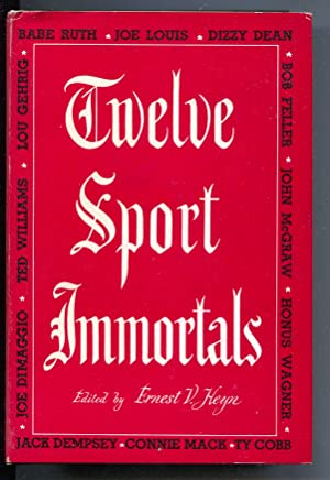 Twelve Sport Immortals 1951-hard cover w/ dust jacket-Dizzy Dean-Honus Wagner-Ty Cobb-VF