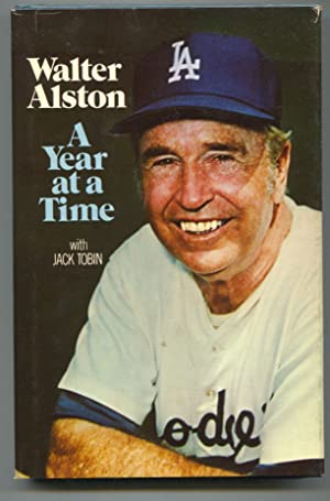 Walter Alston A Year At A Time 1976-Jack Tobinl-1st edition-baseball history-hard cover w/ dust j...